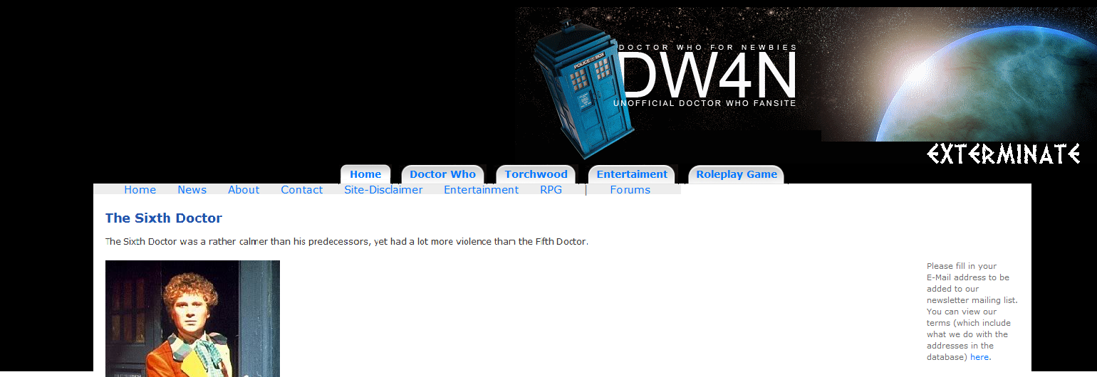 DW4N's third template design.